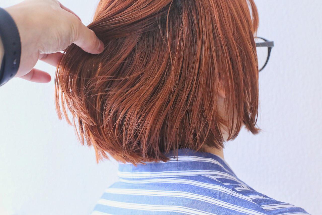 ボブ ブリーチ ダブルカラー ストリート ヘアスタイルや髪型の写真・画像   白石侑 / TWiGGY歩行町店