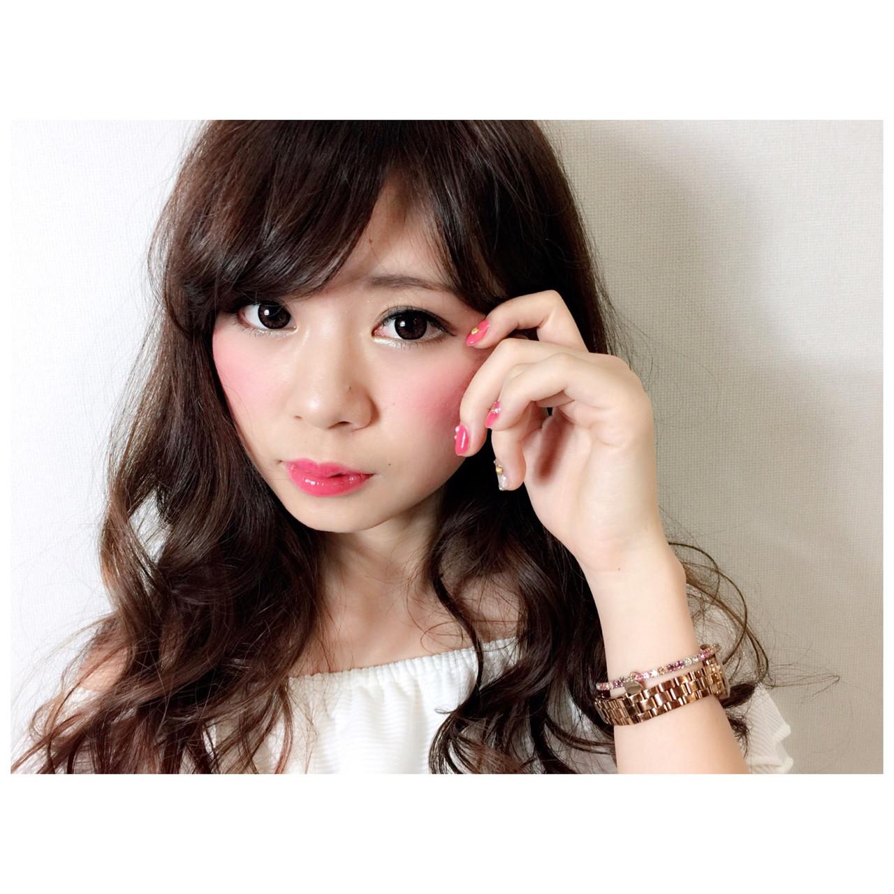 ゆるふわ 黒髪 ヘアアレンジ レイヤーカット ヘアスタイルや髪型の写真・画像 | 石丸 智也 / Mignon