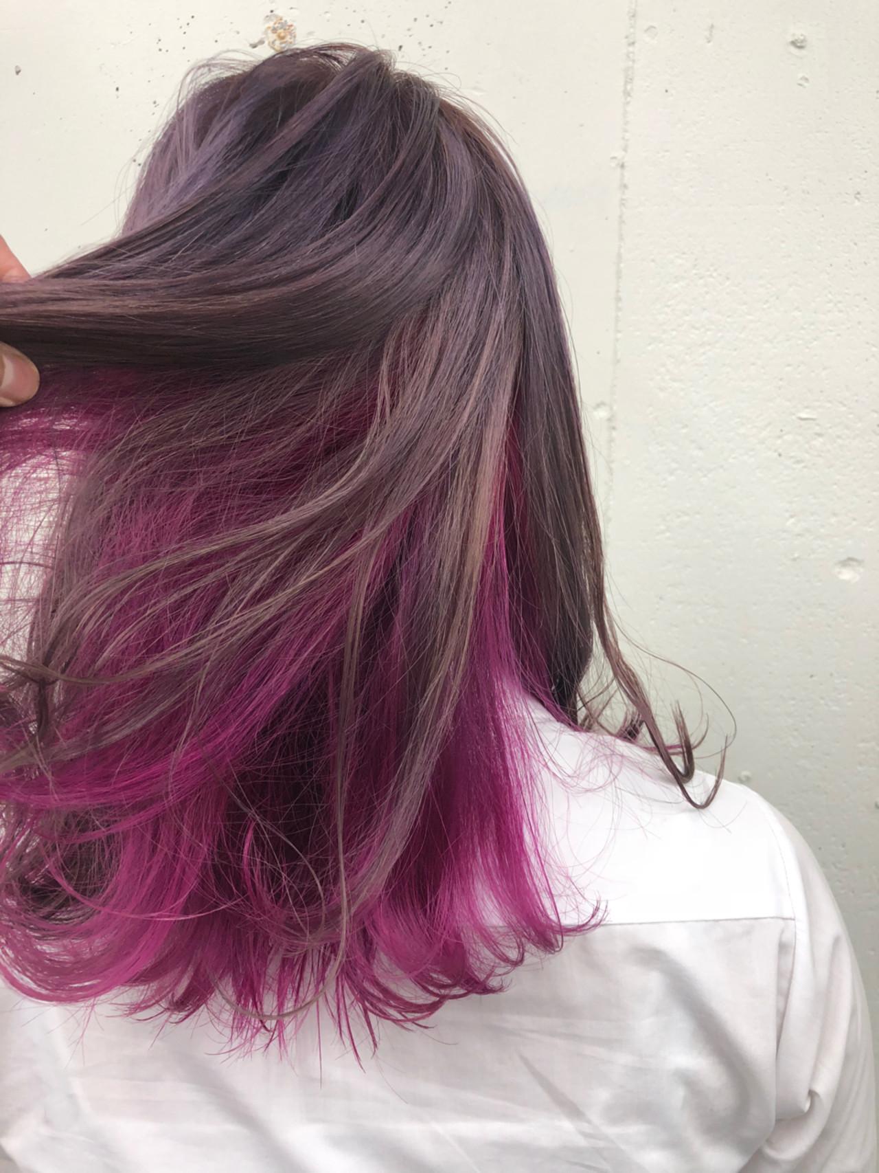 レッド ストリート ブリーチ ミディアム ヘアスタイルや髪型の写真・画像 | 砂川 航 / CYNDY color salon