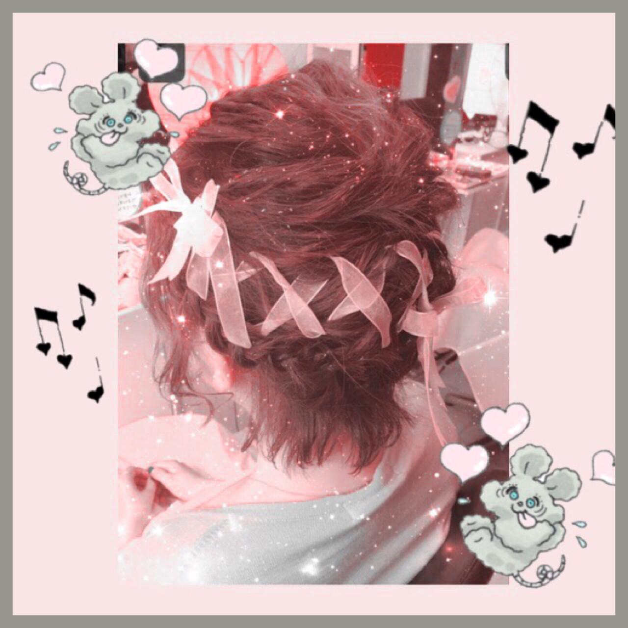 ヘアアレンジ ショート 編み込み フェミニン ヘアスタイルや髪型の写真・画像 | mai / Hair Dressing Lovis