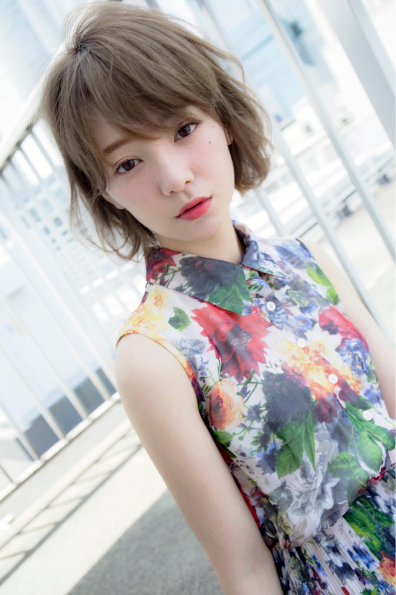 外国人風 ピュア 大人かわいい ゆるふわ ヘアスタイルや髪型の写真・画像 | 堀伸裕 / Gem Garden