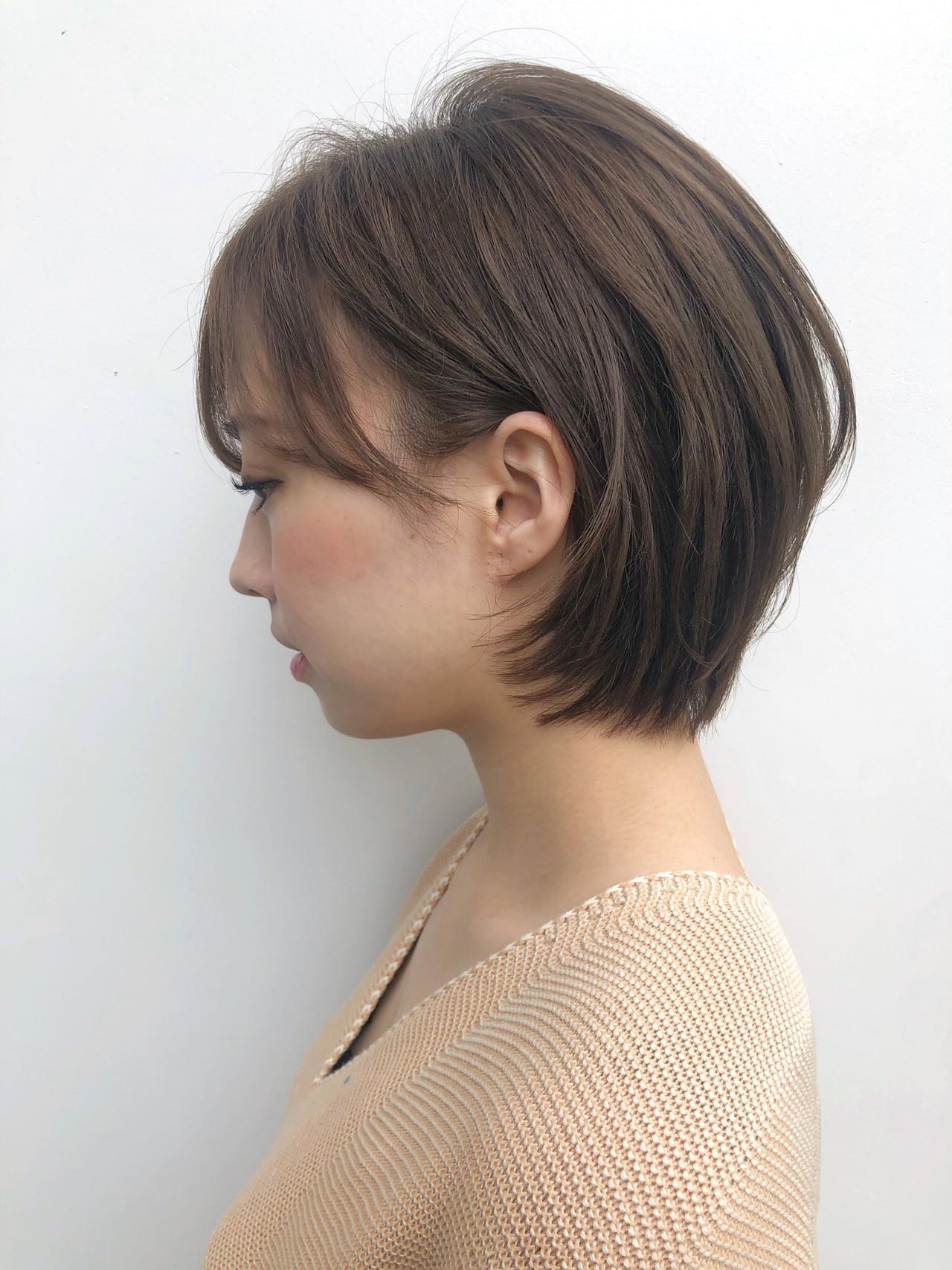 結婚式 デート 透明感カラー ブリーチなし ヘアスタイルや髪型の写真・画像 | 富永大樹【小顔ショート】【小顔ミディアム】 / Unami