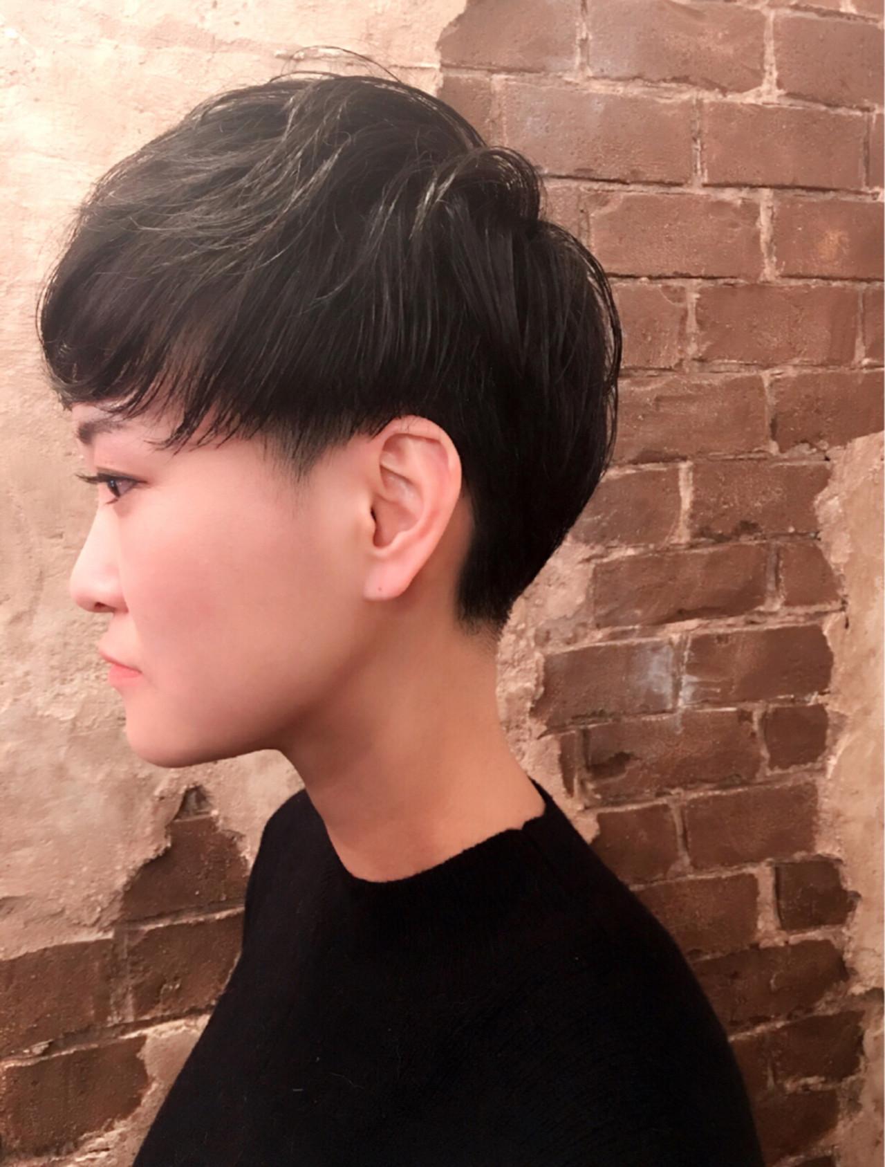 ナチュラル ショート ベリーショートヘアスタイルや髪型の写真・画像