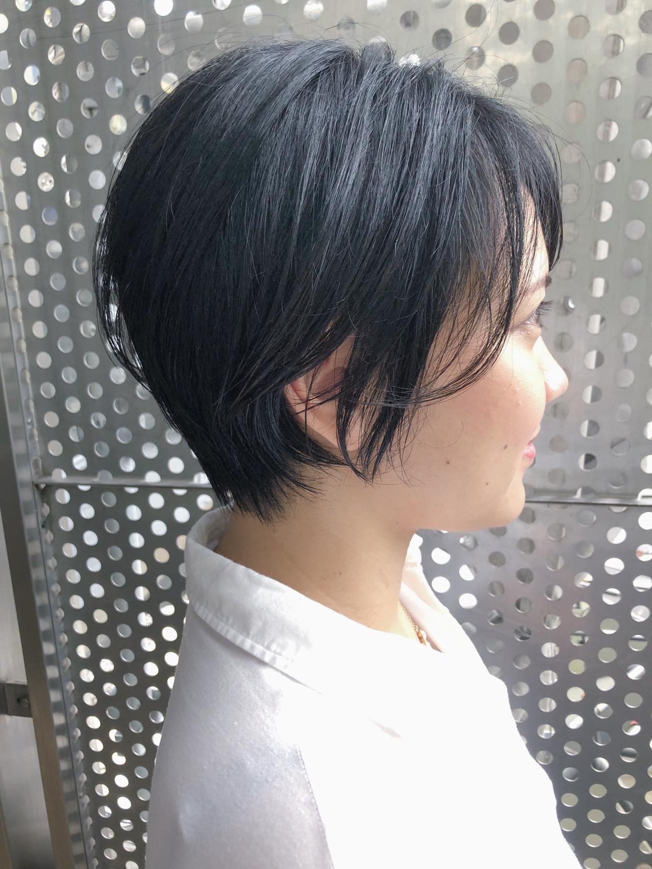 黒髪 パーマ ナチュラル ショート ヘアスタイルや髪型の写真・画像 | 金子颯汰/ kyli表参道 / kyli表参道