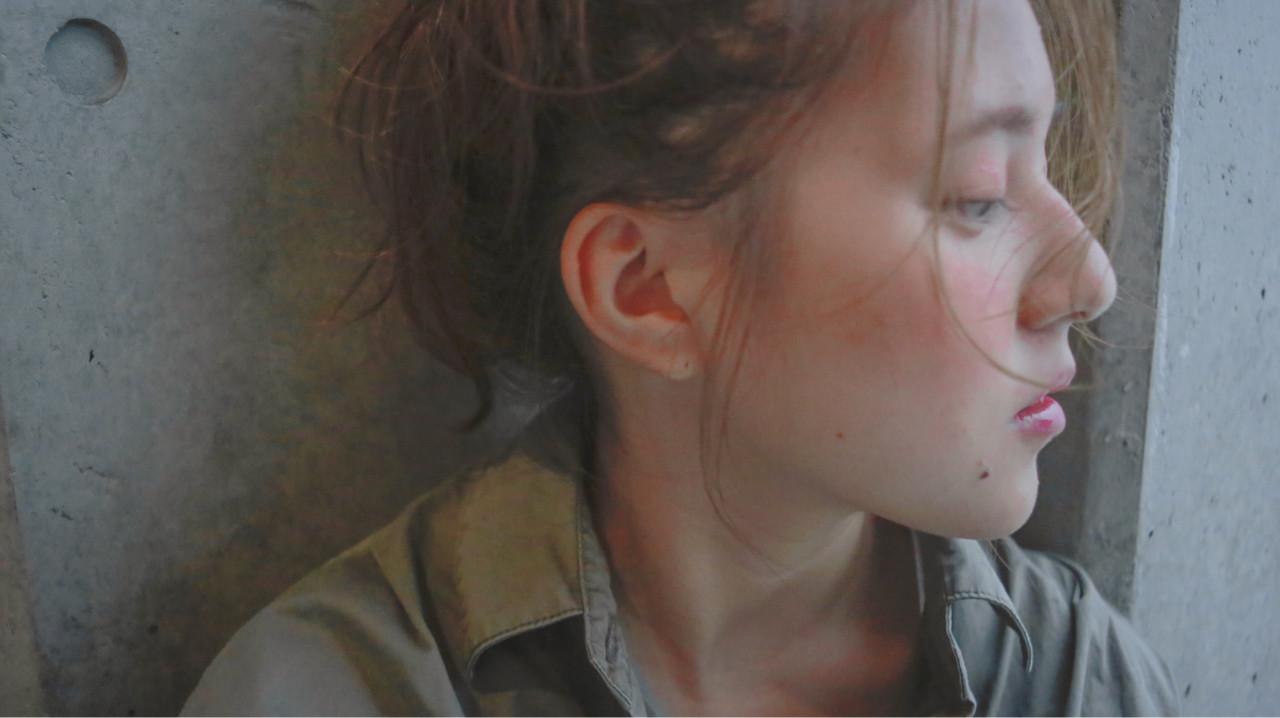 ナチュラル ヘアアレンジ ロング ショート ヘアスタイルや髪型の写真・画像   Ari /