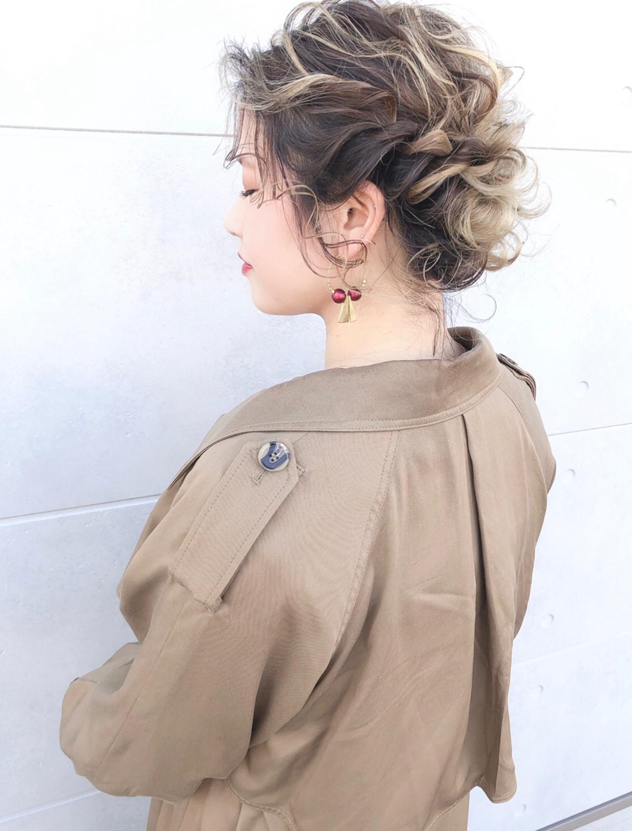 ガーリー 結婚式 ヘアセット ヘアアレンジ ヘアスタイルや髪型の写真・画像