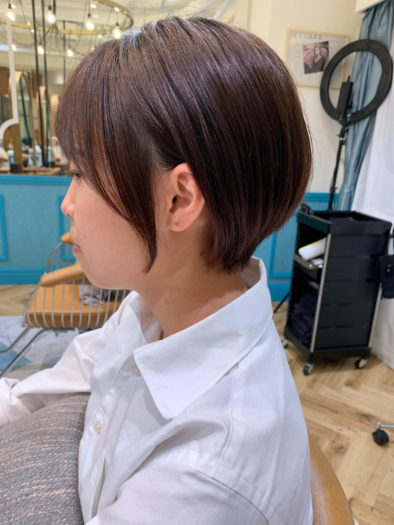 ショート ハンサムショート 小顔ショート ショートボブ ヘアスタイルや髪型の写真・画像   山口 健太 / Lond ange