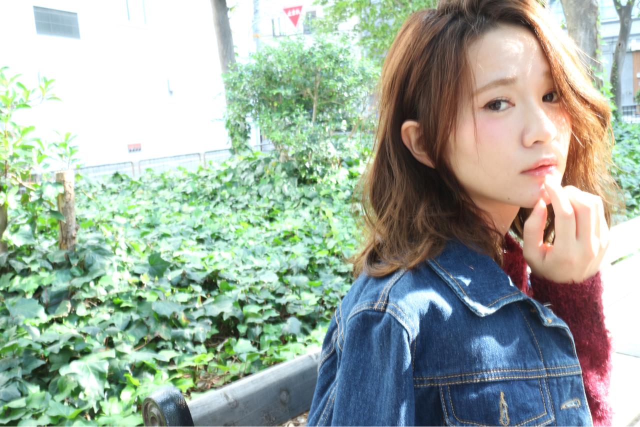 ゆるふわ ナチュラル パーマ ミディアム ヘアスタイルや髪型の写真・画像 | 中島 香 / JAM