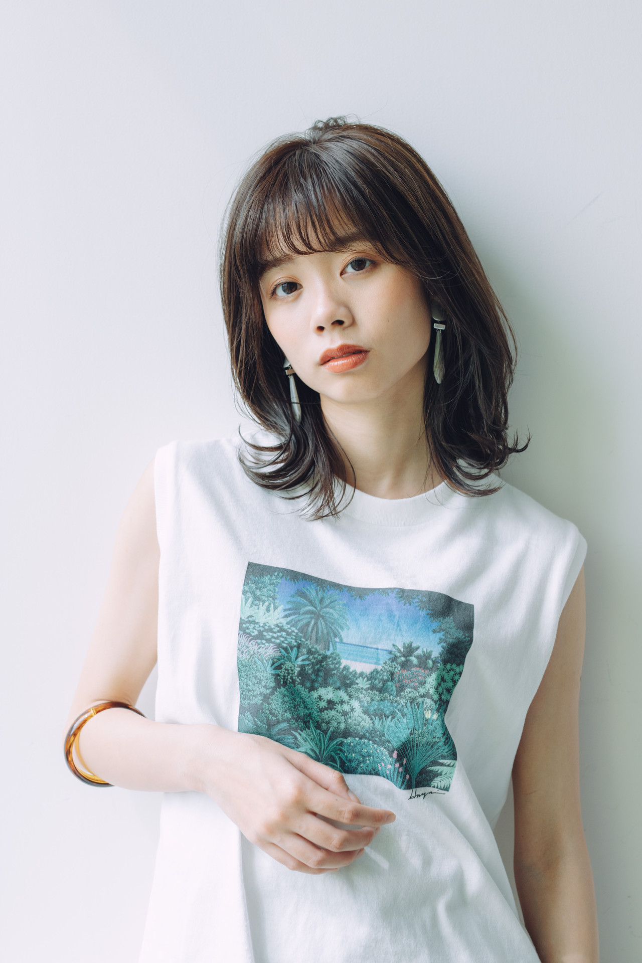 ミディアムレイヤー ナチュラル 鎖骨ミディアム 大人ミディアム ヘアスタイルや髪型の写真・画像 | 児玉善央 / GARDEN harajuku
