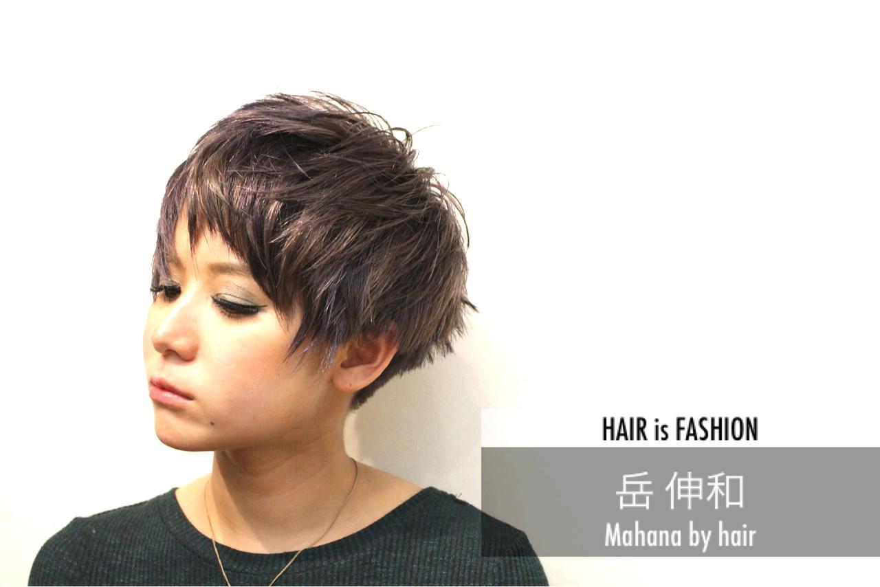 モード ハイライト ショート ハイトーンヘアスタイルや髪型の写真・画像