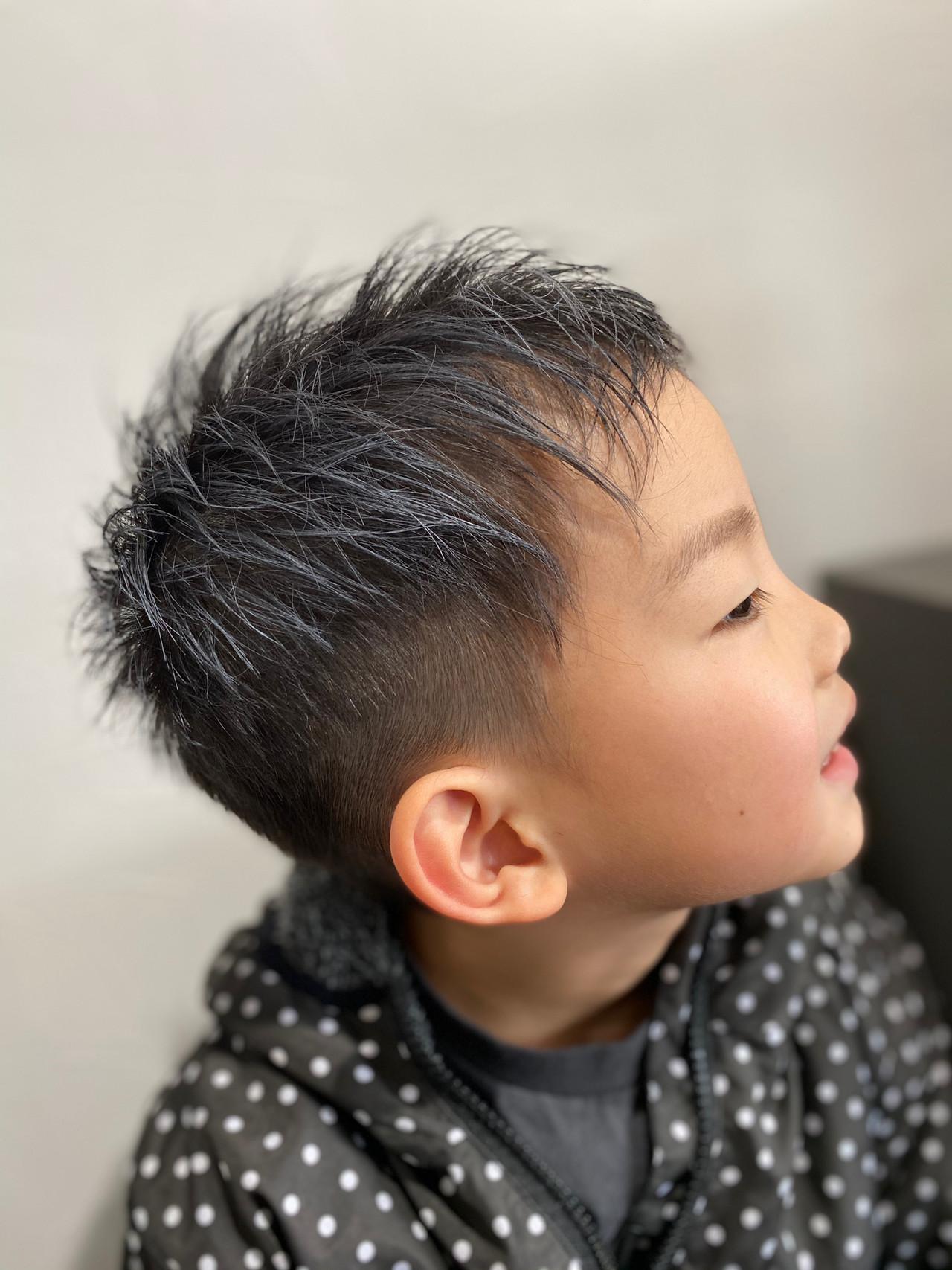 ナチュラル かりあげ ツーブロック ベリーショート ヘアスタイルや髪型の写真・画像 | エイ / aime
