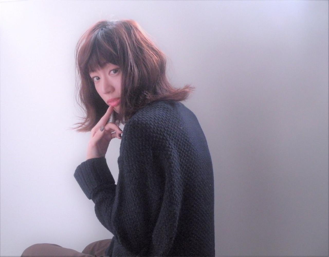 大人女子 冬 アッシュ 色気 ヘアスタイルや髪型の写真・画像 | いまいえりな /
