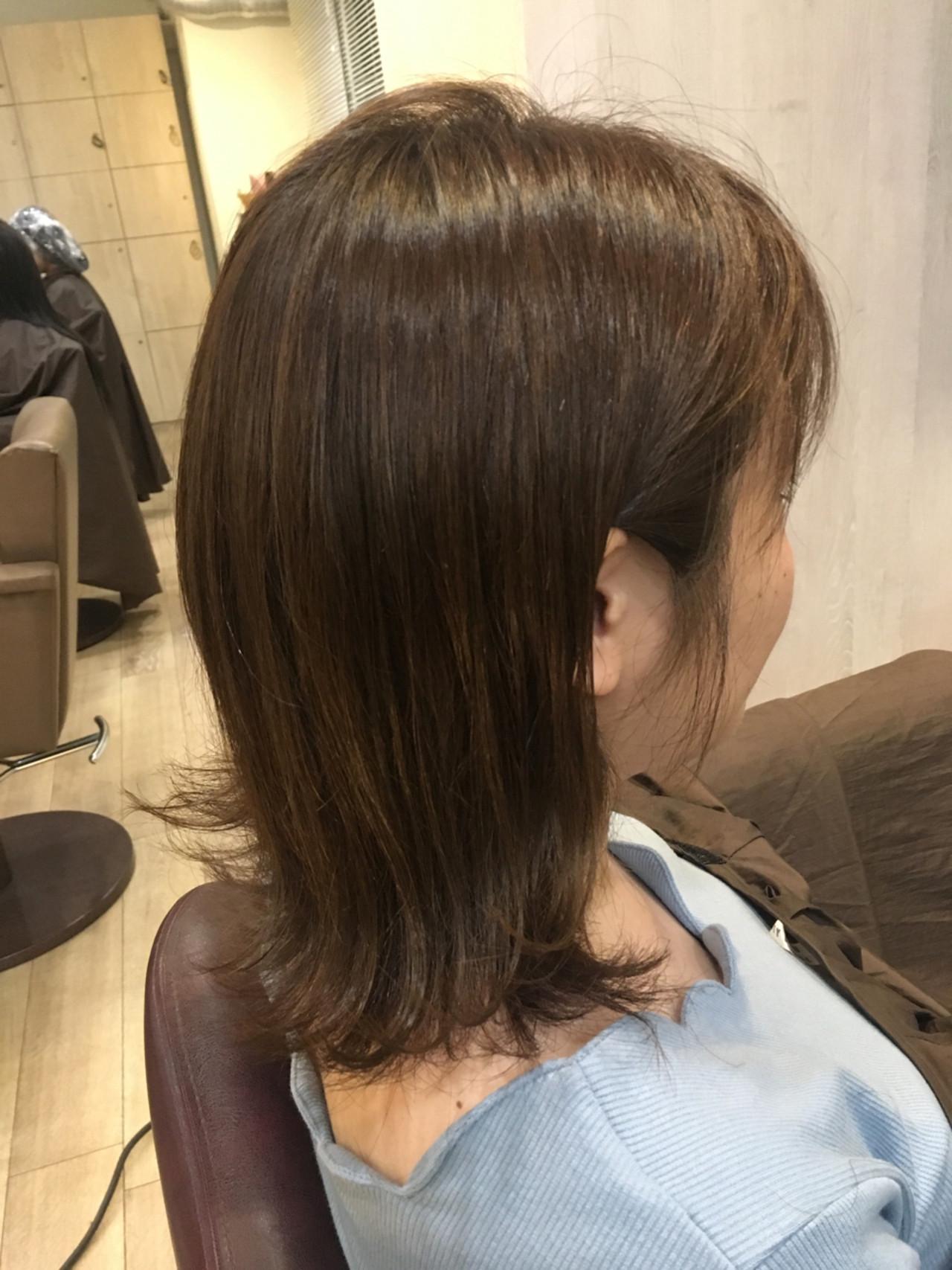 波ウェーブ ナチュラル 外ハネ ウェットヘアヘアスタイルや髪型の写真・画像