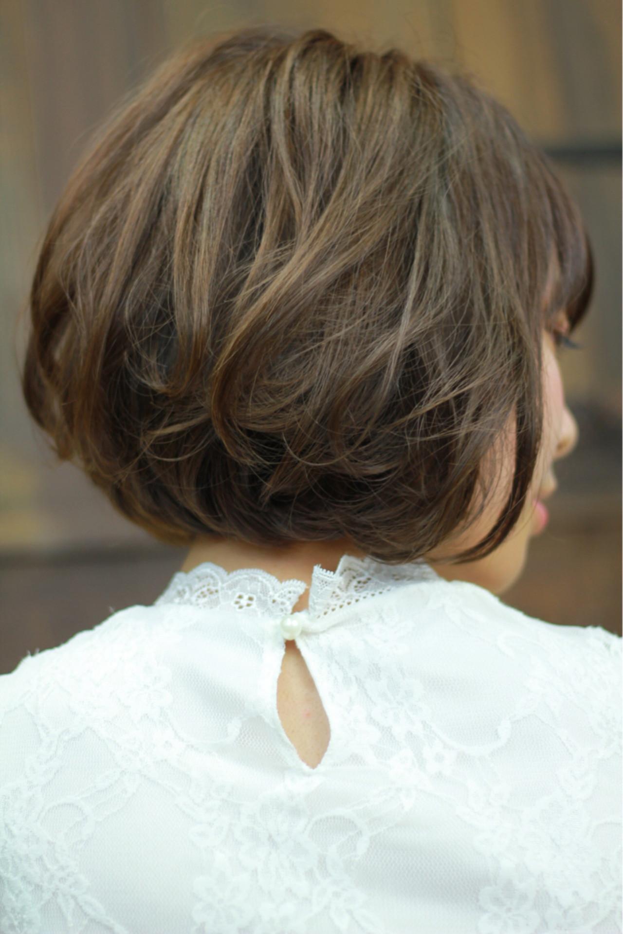 大人かわいい ナチュラル ボブ 大人女子ヘアスタイルや髪型の写真・画像