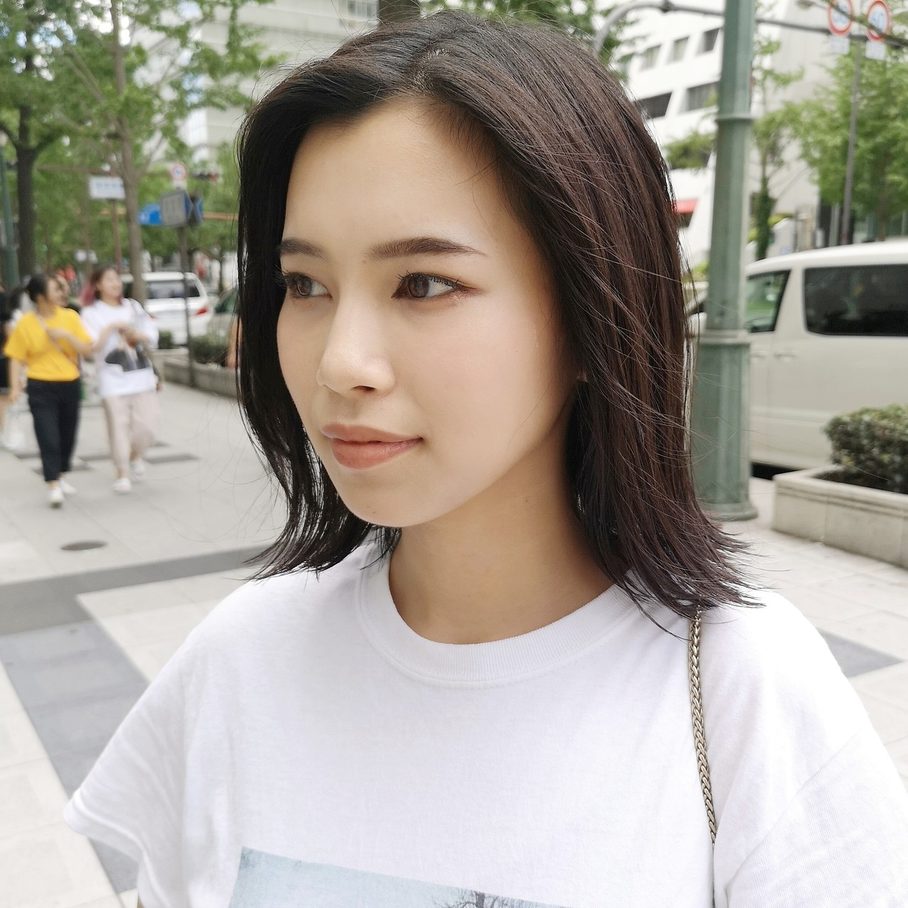 ストレート ミディアム ストリート N.オイル ヘアスタイルや髪型の写真・画像 | Yusuke Matsumoto / HAIR'S Lunetta 心斎橋