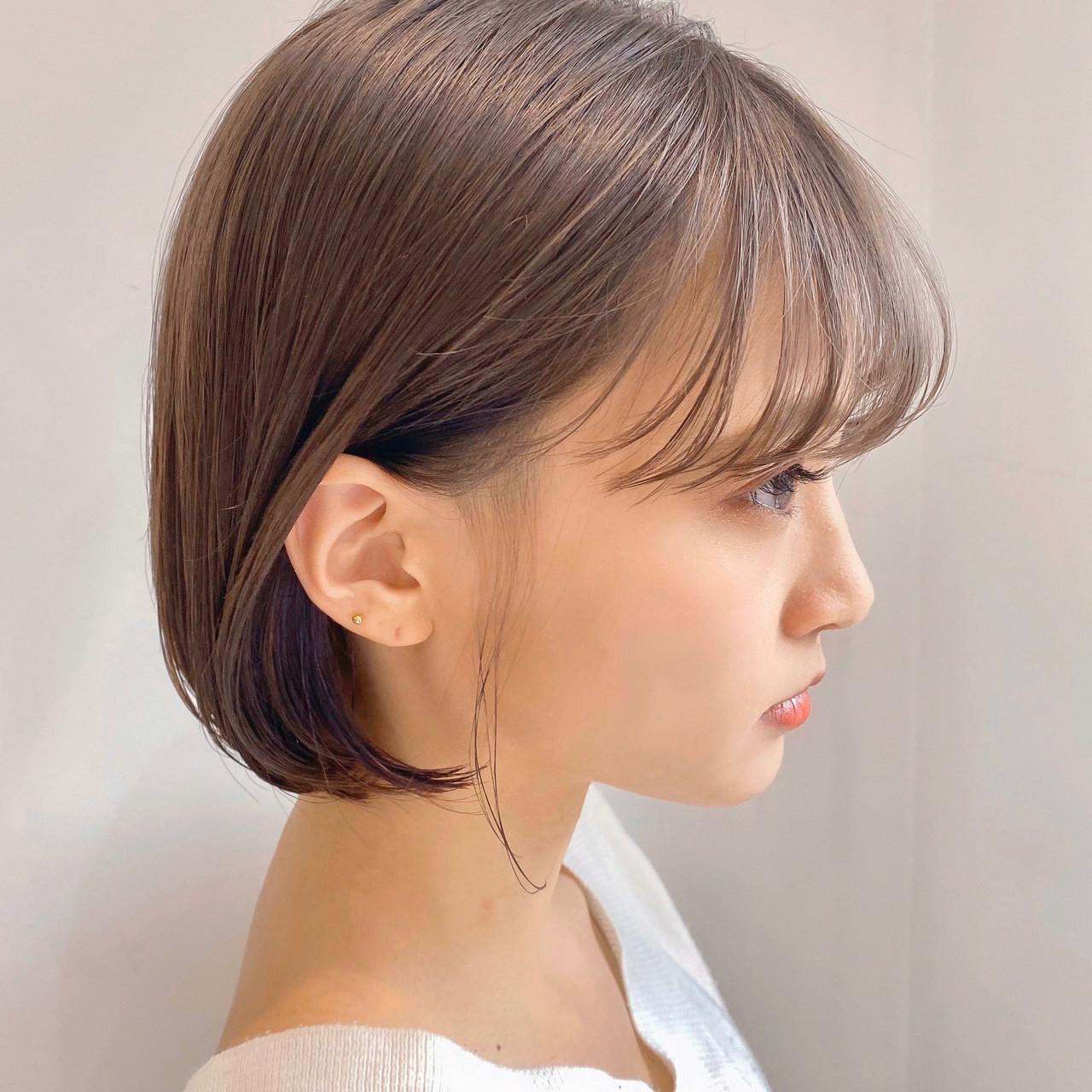 ショートボブ ボブ 切りっぱなしボブ ミニボブ ヘアスタイルや髪型の写真・画像   ウキタ / GOTODAYSHAiRESALON