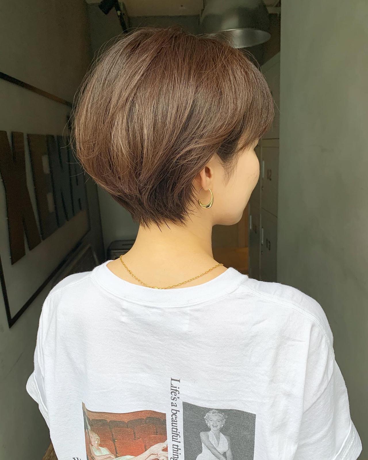 小顔ショート ショートボブ ショートヘア ショートヘアスタイルや髪型の写真・画像