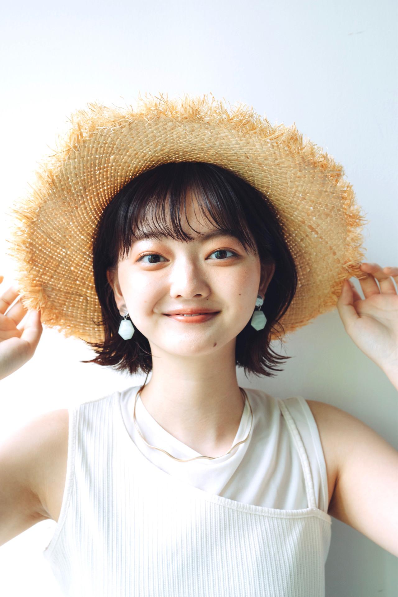 外ハネボブ ナチュラル ボブ ミニボブ ヘアスタイルや髪型の写真・画像 | 児玉善央 / GARDEN harajuku