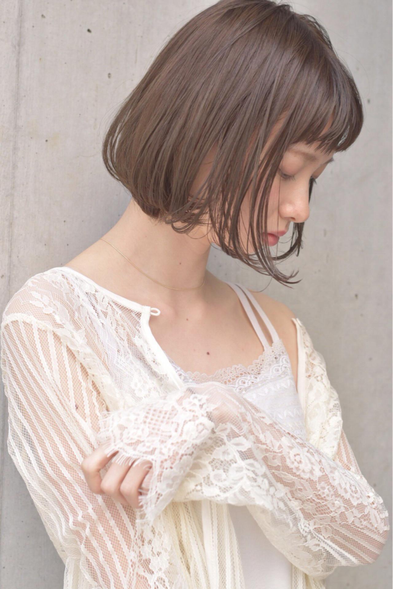 愛され かわいい フェミニン ミルクティーヘアスタイルや髪型の写真・画像