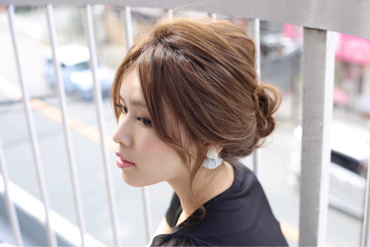 夏 ヘアアレンジ セミロング まとめ髪 ヘアスタイルや髪型の写真・画像 | 中島 香 / JAM