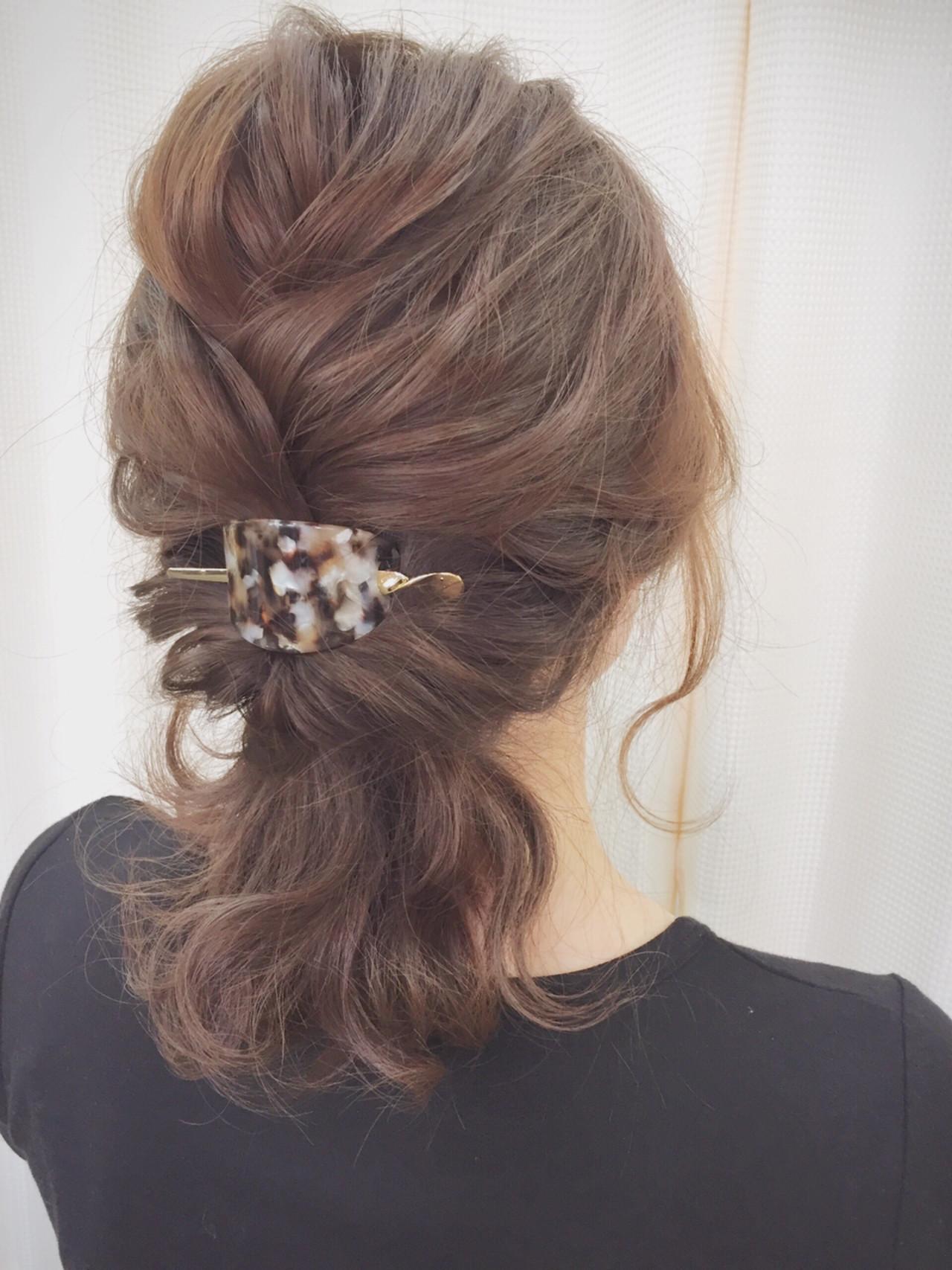 ミディアム パーティ 結婚式 ヘアアレンジ ヘアスタイルや髪型の写真・画像 | サワ / Seamu