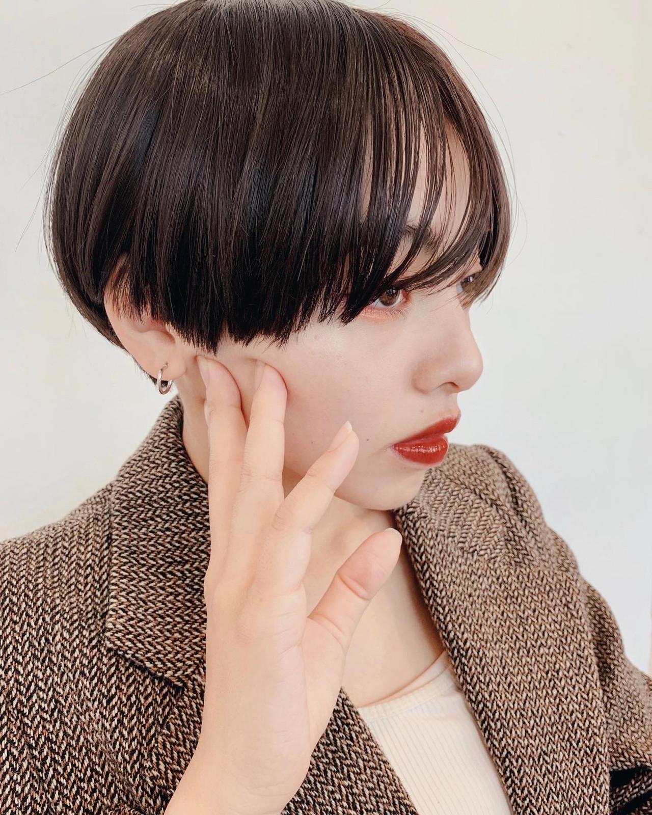 暗髪 モード ベリーショート ショートヘア ヘアスタイルや髪型の写真・画像 | 小島 夏生 / GARDEN harajuku