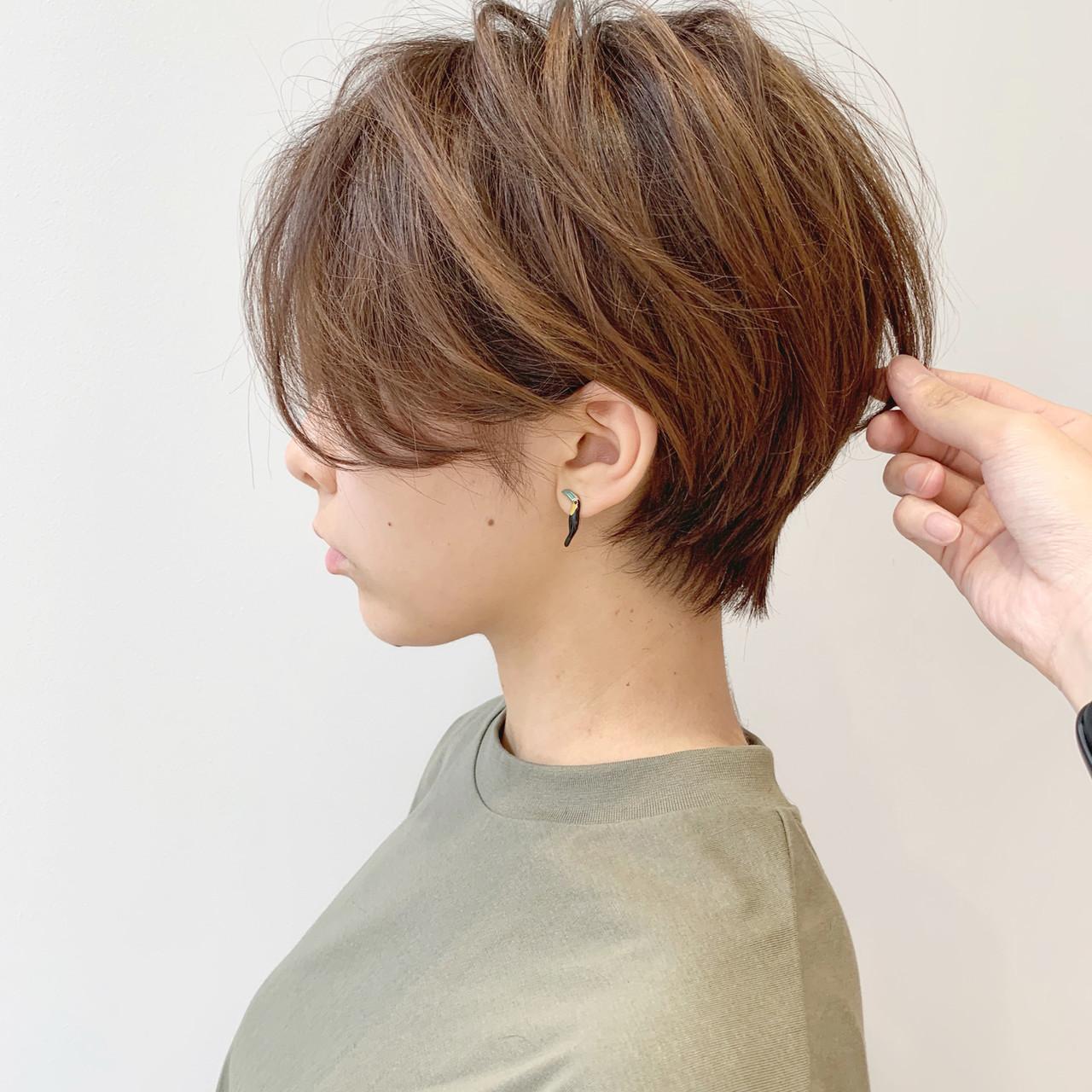 モード ショート デート スポーツ ヘアスタイルや髪型の写真・画像 | ショートヘア美容師 #ナカイヒロキ / 『send by HAIR』