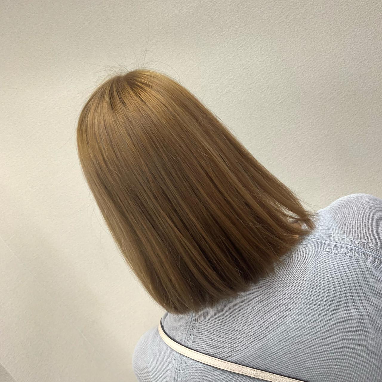 圧倒的透明感 フェミニン ミルクティーベージュ ブリーチ ヘアスタイルや髪型の写真・画像 | 小林寛門 / Lee心斎橋