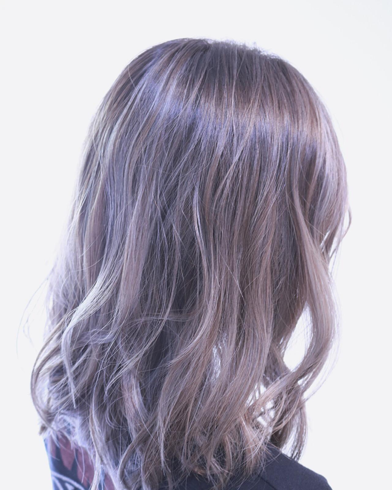 アンニュイ ボブ ウェーブ バレイヤージュ ヘアスタイルや髪型の写真・画像   RUMINA //高田ゆみこ / Rumina