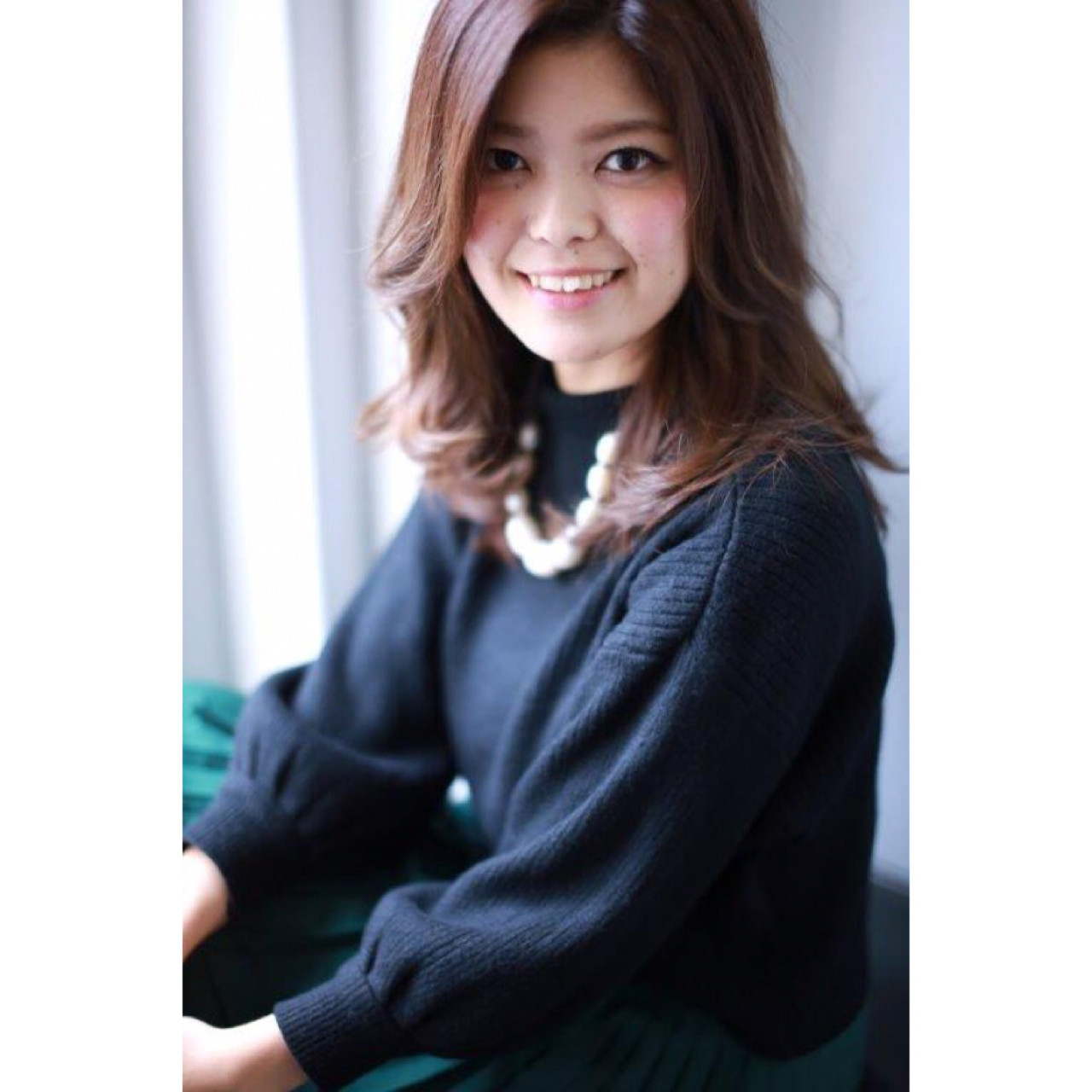 大人女子 ミディアム ベージュ 小顔 ヘアスタイルや髪型の写真・画像   Yumi Hiramatsu / Sourire Imaizumi【スーリール イマイズミ】