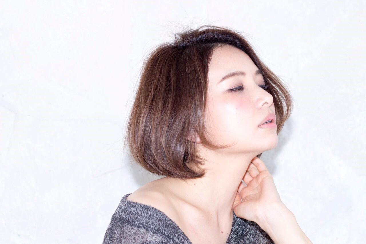 ショート ショートボブ ボブ 大人女子 ヘアスタイルや髪型の写真・画像 | AI /