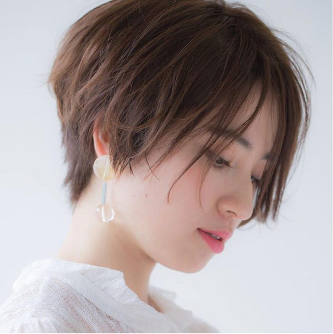 前髪あり 小顔 ジェンダーレス 大人女子 ヘアスタイルや髪型の写真・画像   菅沼宏恵 /