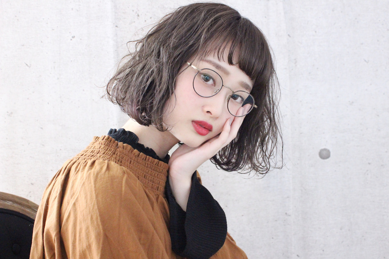 ボブ ナチュラル ミルクグレージュ グレージュ ヘアスタイルや髪型の写真・画像 | 上田智久 / ooit 福岡 天神 / ooit