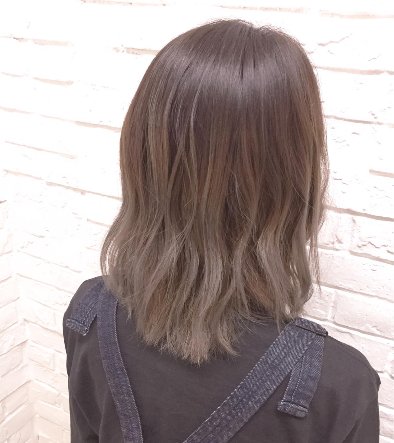 アースカラーを髪色にも。ヘアスタイルもナチュラル可愛く♡ 濱井 志織 / HairsalonF