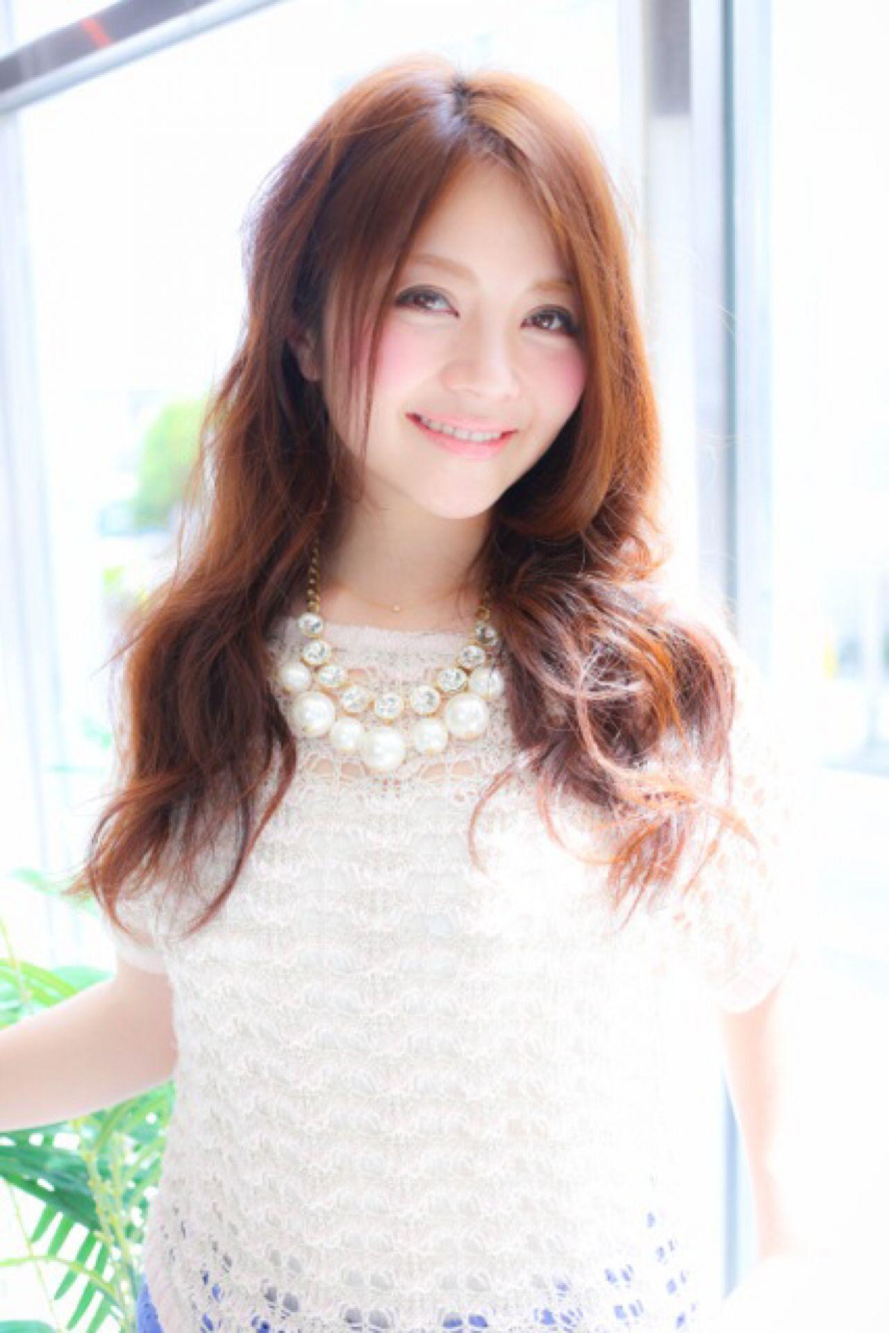フェミニン モテ髪 大人かわいい ロング ヘアスタイルや髪型の写真・画像 | 前樫 将太 / hair design anello