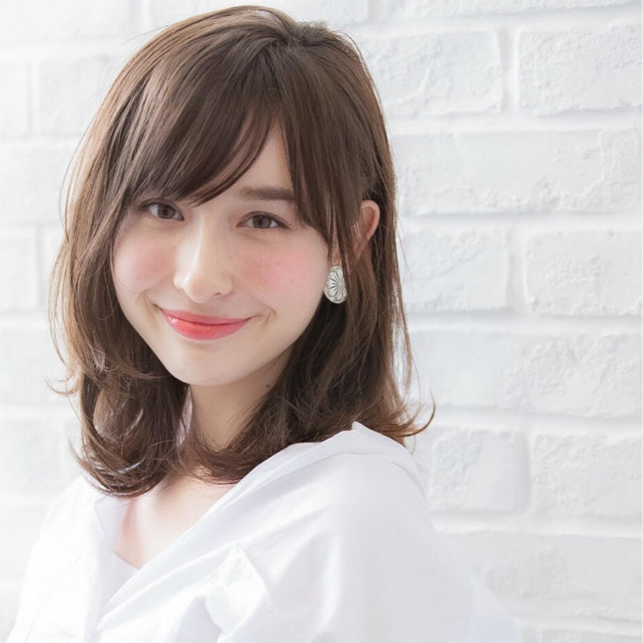 パーマ 無造作 ミディアム ピュア ヘアスタイルや髪型の写真・画像   lora.garden 細田真吾 / lora.garden