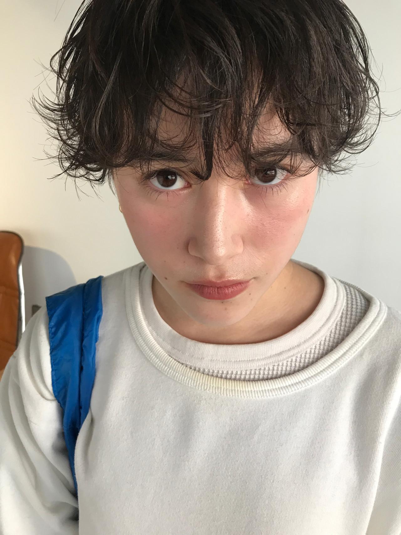 ショート ショートボブ くせ毛風 ナチュラル ヘアスタイルや髪型の写真・画像 | 高橋 忍 / nanuk渋谷店(ナヌーク)