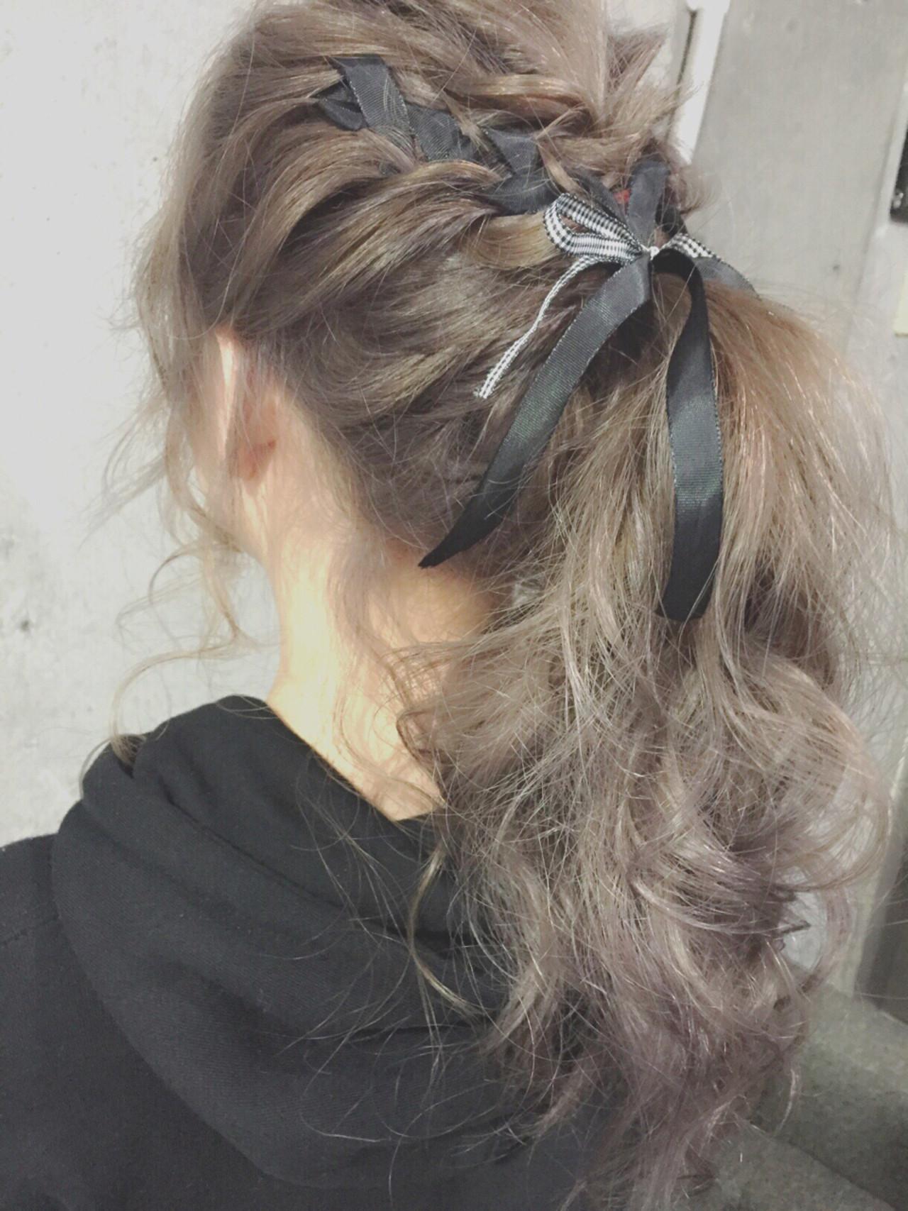 セミロング 簡単ヘアアレンジ ショート フェミニン ヘアスタイルや髪型の写真・画像 | MOTAI / Wille / Wille