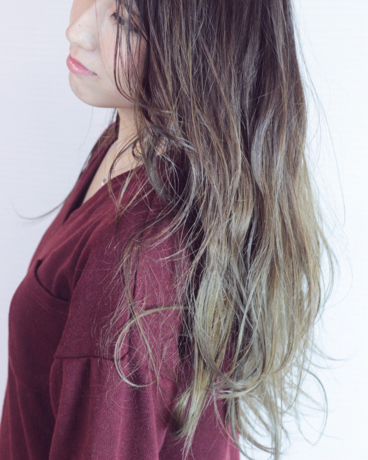 ロング 上品 ハイライト ゆるふわ ヘアスタイルや髪型の写真・画像 | 松田 和幸 / tuuli