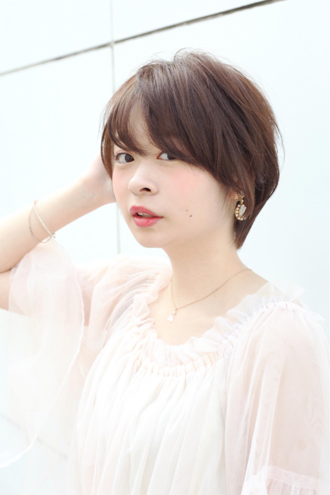 似合わせ 色気 ショート ボブ ヘアスタイルや髪型の写真・画像 | Hiroさん / H+by Airsalon