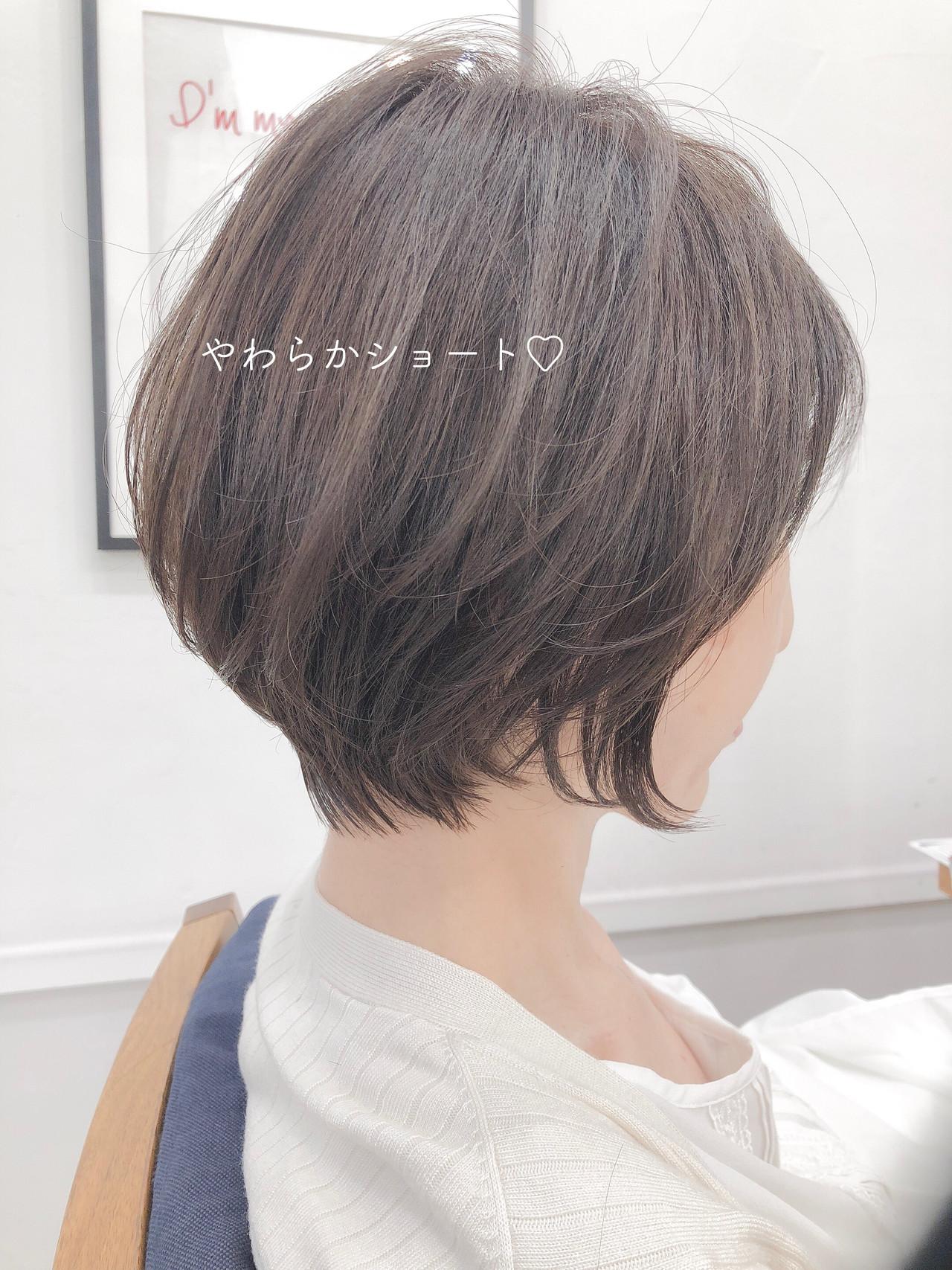 ショート 大人かわいい エレガント ショートボブヘアスタイルや髪型の写真・画像