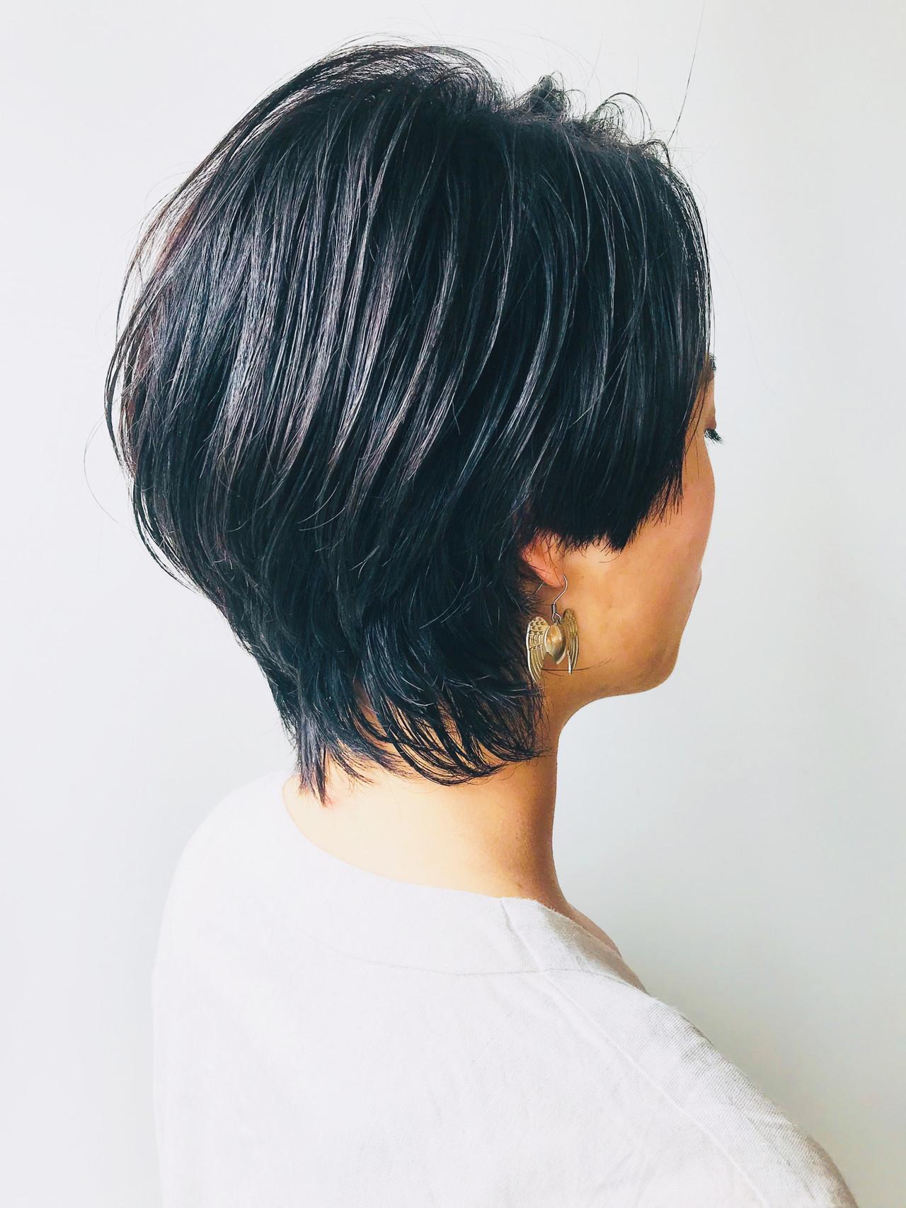 フェミニンウルフ ショート ウルフカット モード ヘアスタイルや髪型の写真・画像 | 小原布未加 / morio flom London 原宿本店