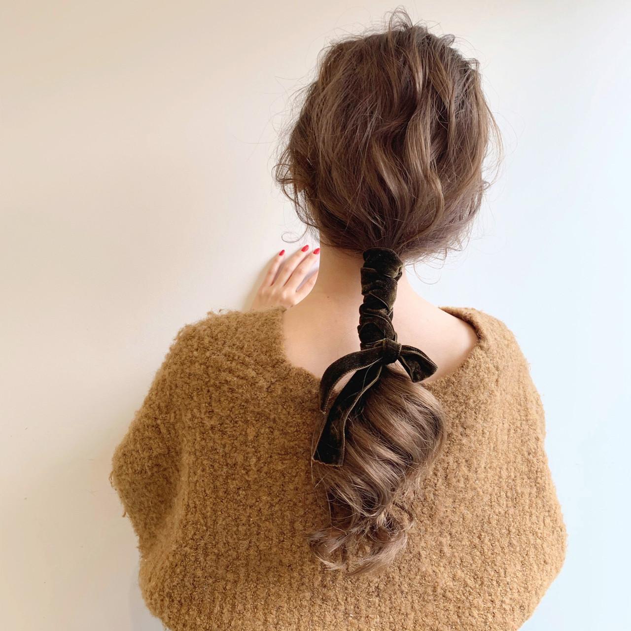 ゆるふわ ナチュラル ヘアアレンジ デート ヘアスタイルや髪型の写真・画像 | 安永怜 / kakimotoarms田園調布