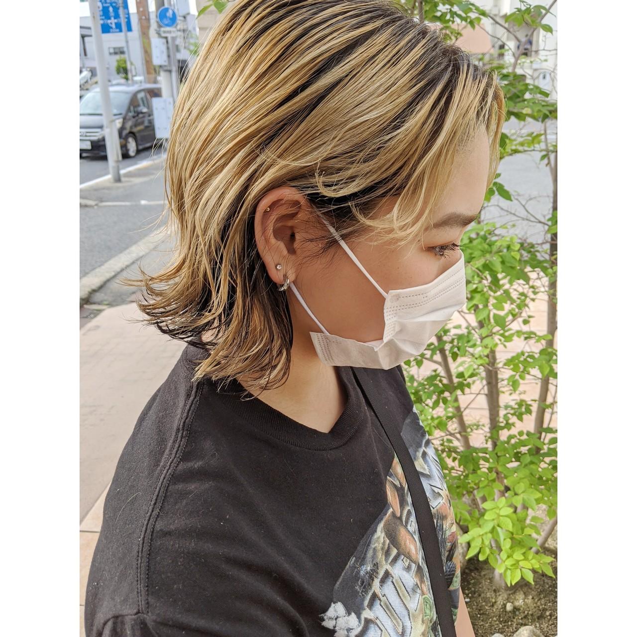 ショートヘア 切りっぱなしボブ ナチュラル ミニボブ ヘアスタイルや髪型の写真・画像 | 牧野一生 / SESSION