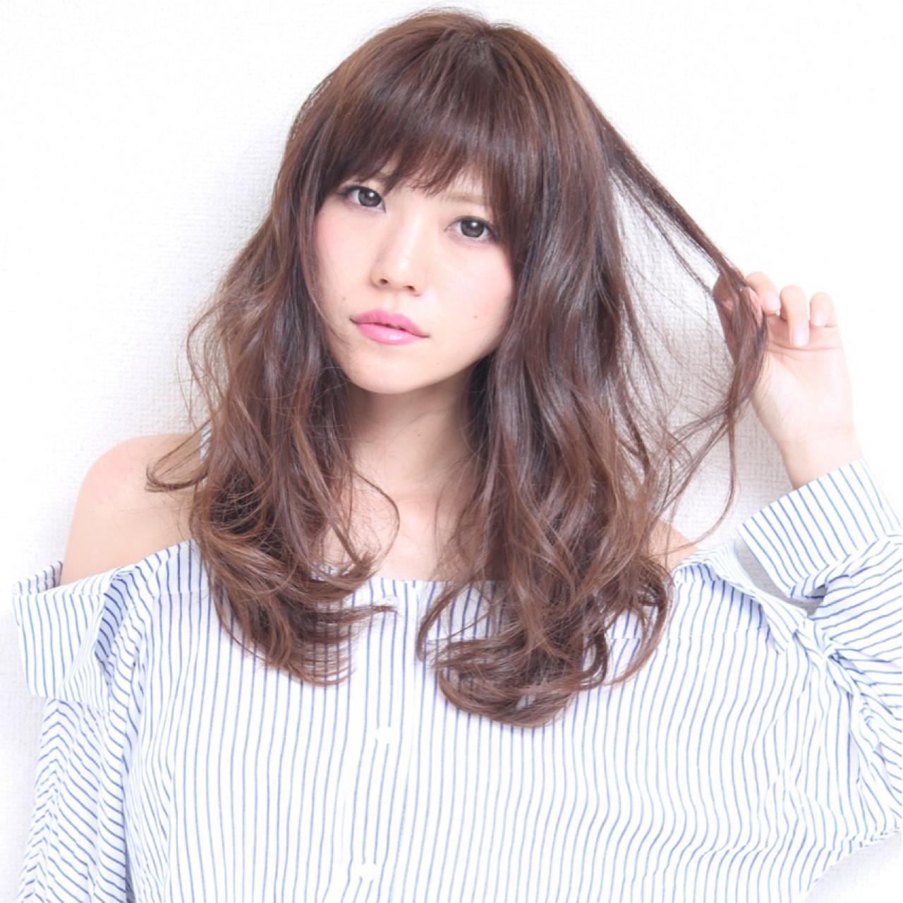 愛され モテ髪 透明感 ゆるふわ ヘアスタイルや髪型の写真・画像 | Marika Yoshioka /