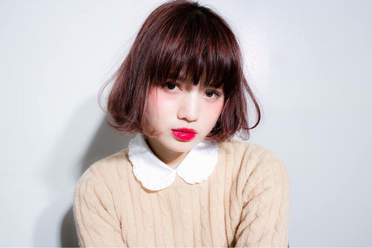 【丸顔さんに似合う髪型】ひし形シルエットの小顔効果でより可愛く♡ 内藤 達也
