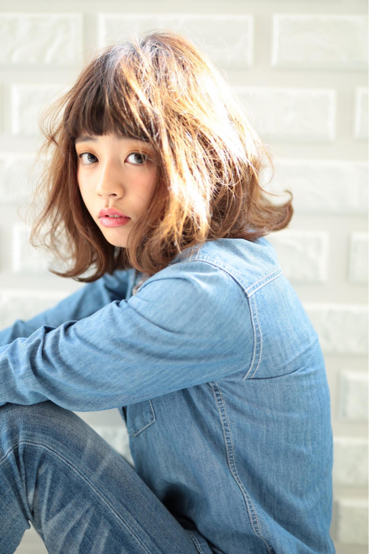 ストリート 大人かわいい 大人女子 春 ヘアスタイルや髪型の写真・画像 | フジワラマナミ /