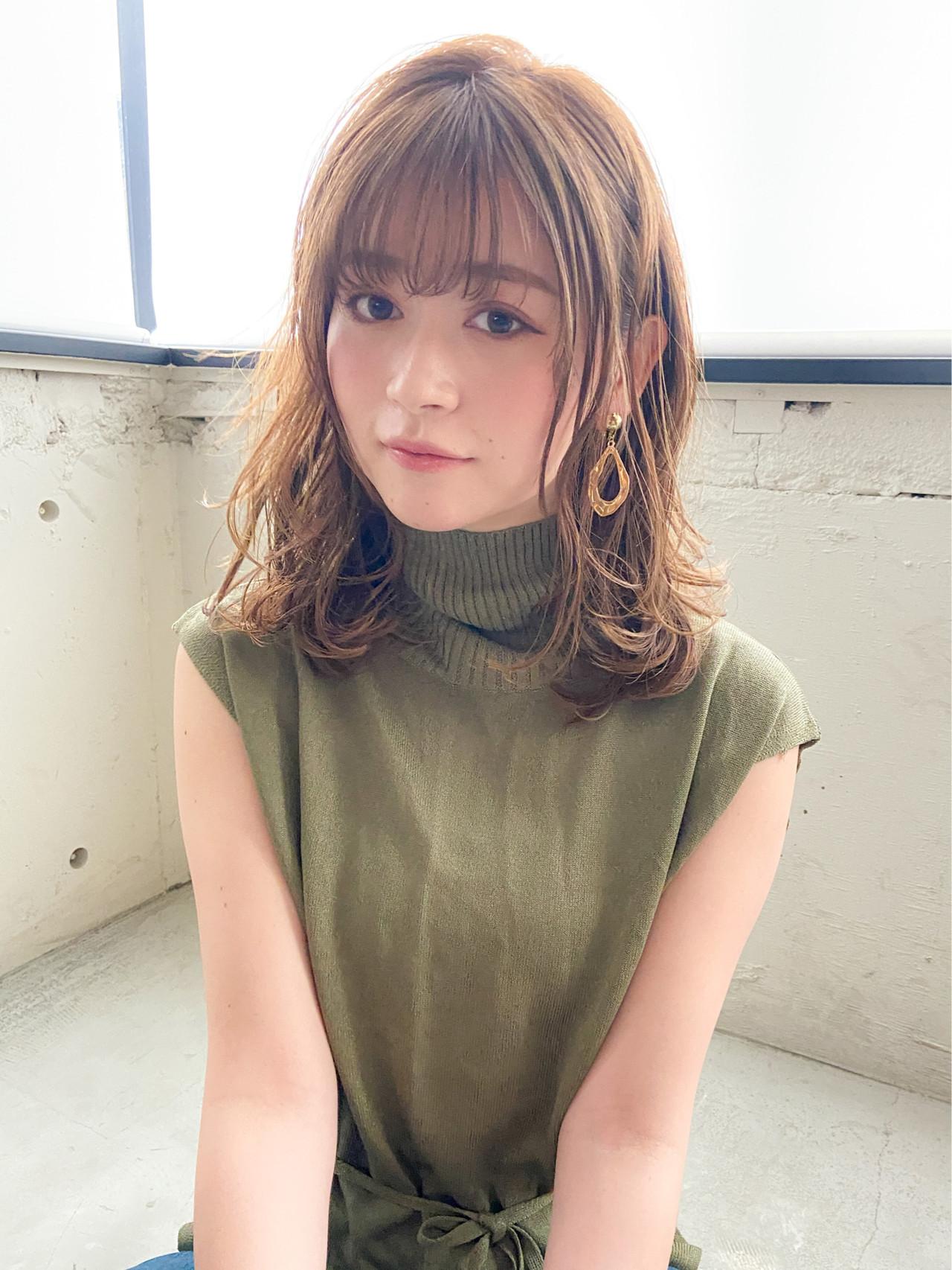 アンニュイほつれヘア フェミニン 毛先パーマ デジタルパーマ ヘアスタイルや髪型の写真・画像