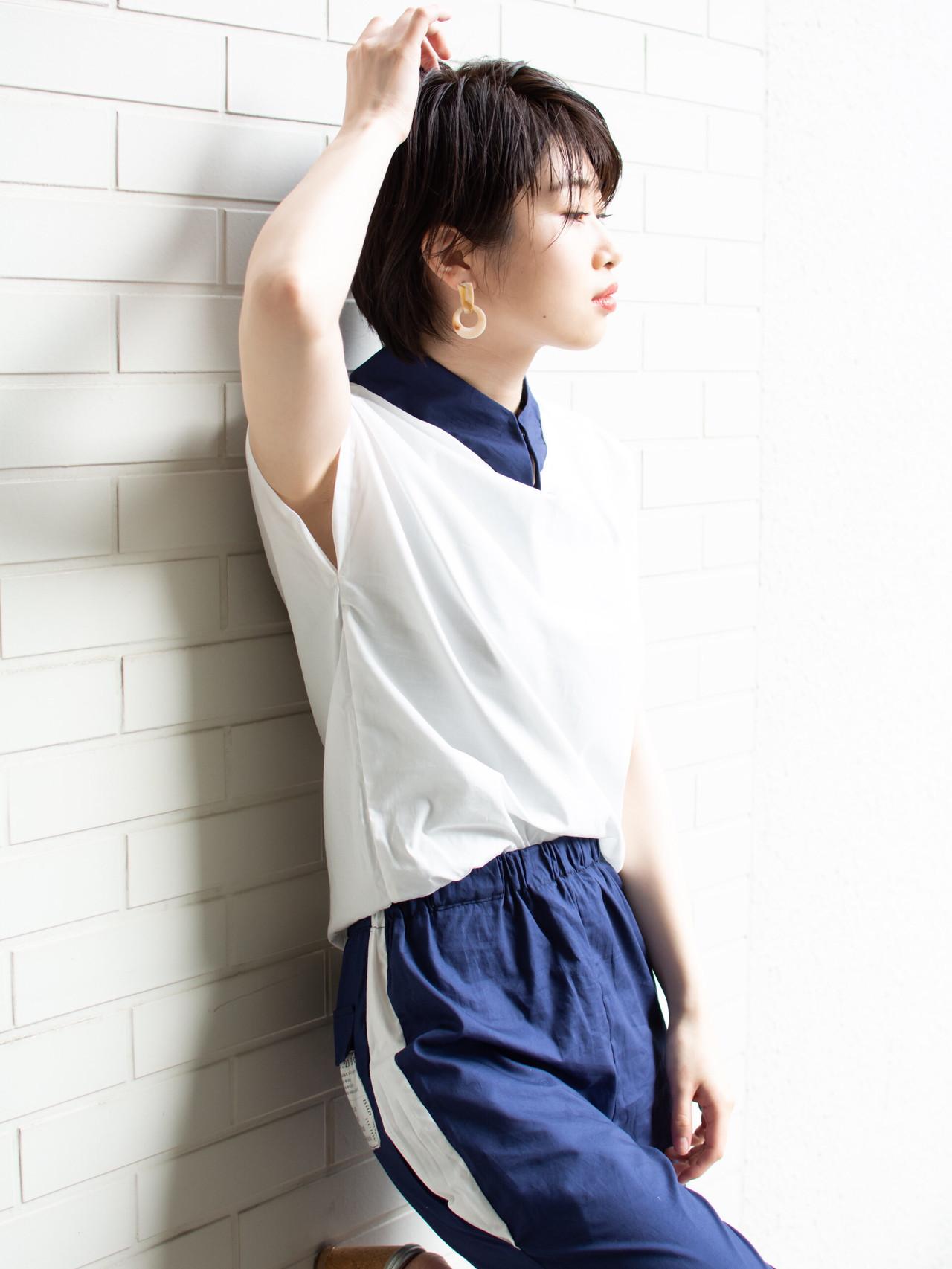 ショート デート ボブヘアー ショートボブ ヘアスタイルや髪型の写真・画像 | 【noine】斉藤 正敏 / noine