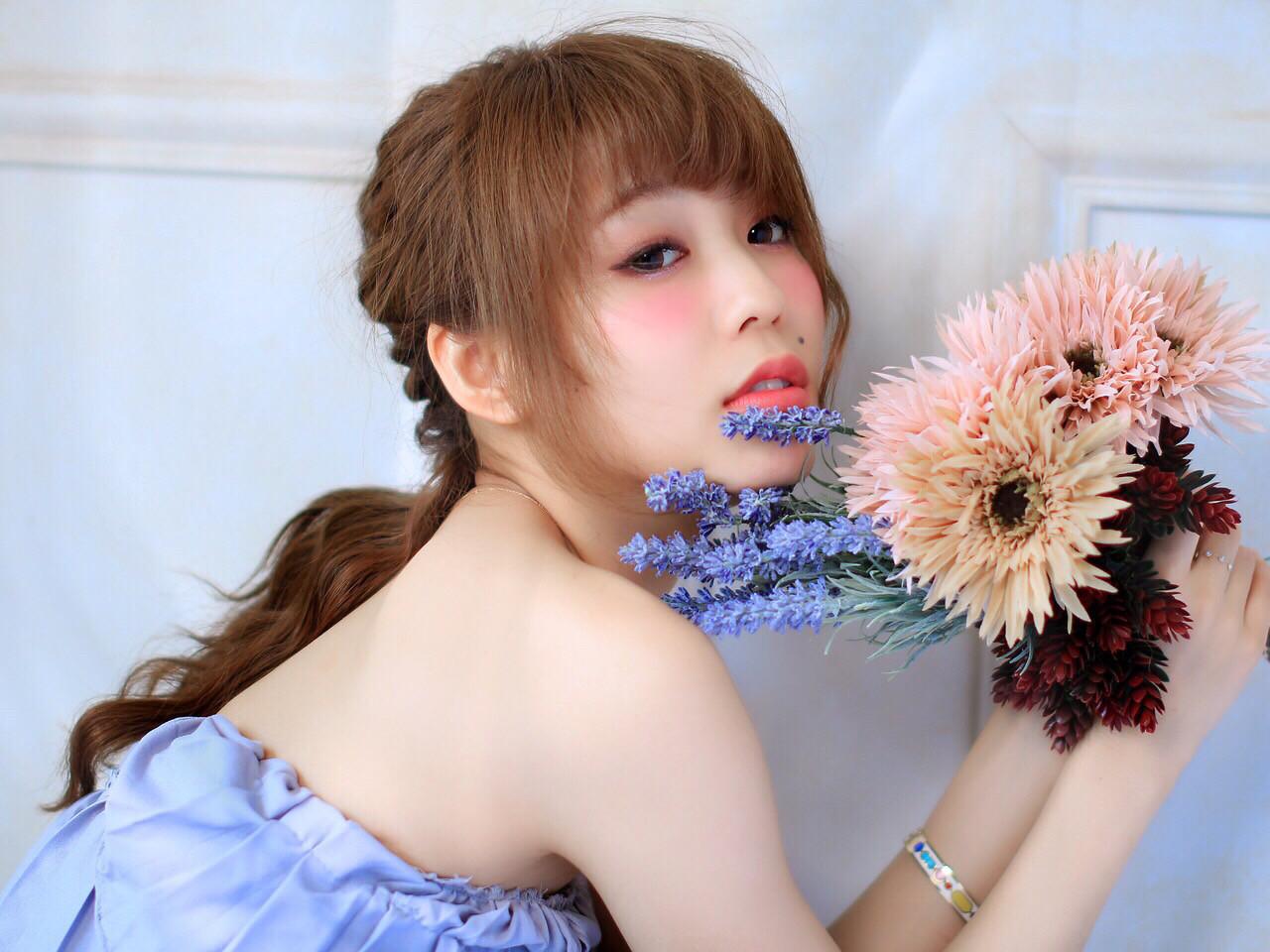 ヘアアレンジ 外国人風 簡単ヘアアレンジ フェミニン ヘアスタイルや髪型の写真・画像 | しらいわ まちこ /